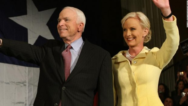 Cindy McCain posts stranger's hateful message about John McCain and their daughter