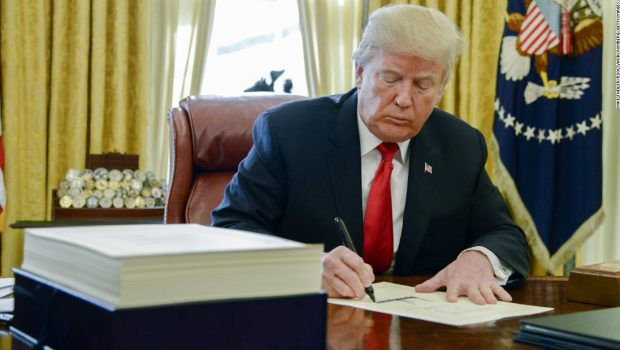 Trump signs first veto of his presidency