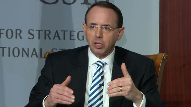 """Rosenstein staying on at Justice Department  """"a little longer"""" than anticipated"""