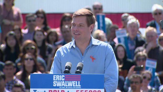 Rep. Eric Swalwell kicks off presidential bid promising gun reform
