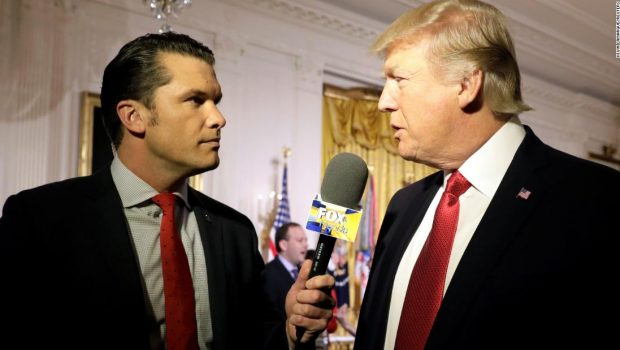 Fox News host Pete Hegseth has privately encouraged Trump to pardon servicemen accused of war crimes
