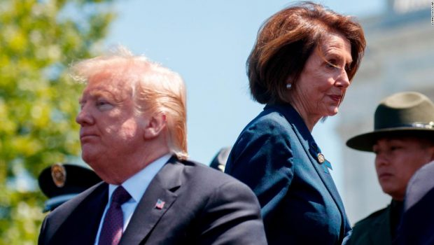 Pelosi and Democrats meet as impeachment pressure grows