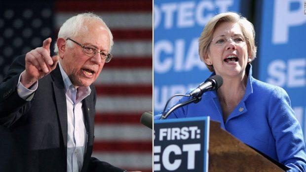 Bernie Sanders and Elizabeth Warren clash escalates in contest for progressive champion