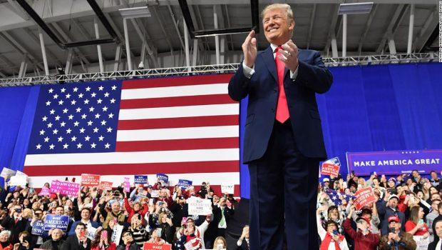Trump fights to regain 2020 spotlight with Orlando launch