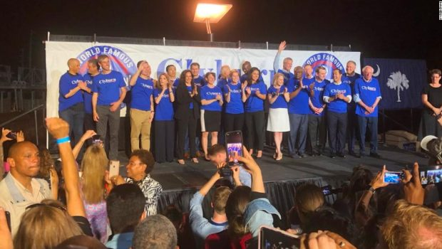 21 candidates in matching T-shirts walked onto a stage in South Carolina. Here's what happened