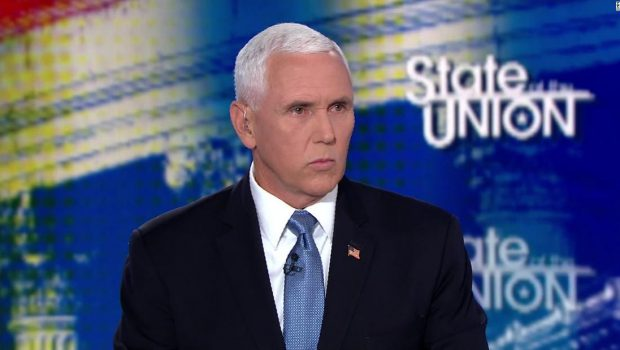 Mike Pence won't say if he views climate crisis as threat to US