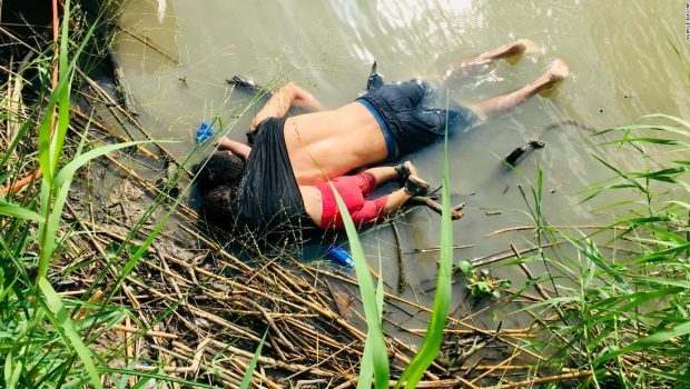 Woman watched her husband and daughter drown at the Mexican border, newspaper says